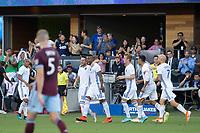 SAN JOSE, CA - JULY 27: Vako goal celebration during a Major League Soccer (MLS) match between the San Jose Earthquakes and the Colorado Rapids on July 27, 2019 at Avaya Stadium in San Jose, California.