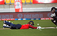 England's Tammy Beaumont makes her ground during the 2nd international women's T20 cricket match between the New Zealand White Ferns and England at Sky Stadium in Wellington, New Zealand on Friday, 5 March 2021. Photo: Dave Lintott / lintottphoto.co.nz