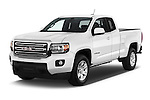2016 GMC Canyon 2WD SLE Extended Cab 4 Door Pick-up Angular Front stock photos of front three quarter view
