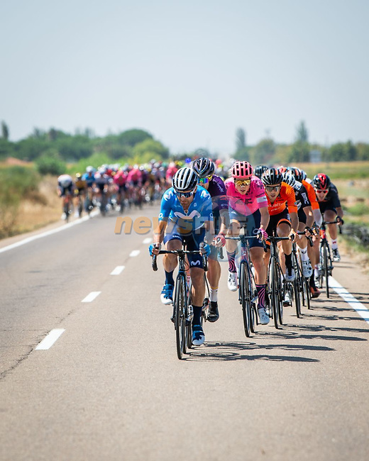 Breakaway tries to form during Stage 14 of La Vuelta d'Espana 2021, running 165.7km from Don Benito to Pico Villuercas, Spain. 28th August 2021.     <br /> Picture: Cxcling | Cyclefile<br /> <br /> All photos usage must carry mandatory copyright credit (© Cyclefile | Cxcling)