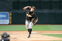 Bowling Green Hot Rods pitcher Brent Honeywell (31) delivers a pitch during a game against the West Michigan Whitecaps on May 11, 2015 at Fifth Third Ballpark in Comstock Park, Michigan.  West Michigan defeated Bowling Green 3-1.  (Emily Jones/Four Seam Images)