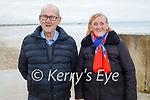 Enjoying a stroll on Ballyheigue beach on Saturday, l to r:  Bridie and John Lucid.