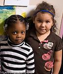 Education Preschool 3-4 year olds portrait of two girls friends square