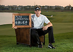 """Ian Poulter was asked by Ballantine's at the BMW Masters to describe how he stays true to himself; his answer is shown. Ballantine's, who recently announced their new global marketing campaign, """"Stay True, Leave An Impression"""", is a sponsor at the BMW Masters, which takes place from the 24-27 October at Lake Malaren Golf Club in Shanghai.  Photo by Andy Jones / The Power of Sport Images for Ballantines."""