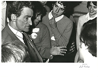 Claude Ryan le 18 mars 1978<br /> , durant la campagne a la chefferie du PLQ <br /> <br /> <br /> <br /> PHOTO :  Agence Quebec Presse