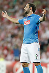 SSC Napoli's Gonzalo Higuain during Champions League 2014/2015 Play-off 2nd leg match.August 27,2014. (ALTERPHOTOS/Acero)
