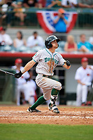 Daytona Tortugas TJ Friedl (6) hits a home run in the top of the fifth inning during a game against the Florida Fire Frogs on April 7, 2018 at Osceola County Stadium in Kissimmee, Florida.  Daytona defeated Florida 4-3 in a six inning rain shortened game.  (Mike Janes/Four Seam Images)
