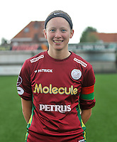20130824 - Zulte , Belgium : Francoise Delcoigne  , Saturday 24 August 2013. Teampictures <br /> PHOTO DAVID CATRY / Nikonpro.be