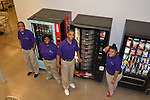 As part of the H.E.A.R.T. partnership with HISD, 17 high school students with disabilities are working and learning on the job at the Houston Food Bank. The student interns learn how to operate six different types of vending machines.
