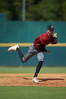 Tyler Dean (21) of William Byrd HS in Vinton, VA playing for the Arizona Diamondbacks scout team during the East Coast Pro Showcase at the Hoover Met Complex on August 2, 2020 in Hoover, AL. (Brian Westerholt/Four Seam Images)