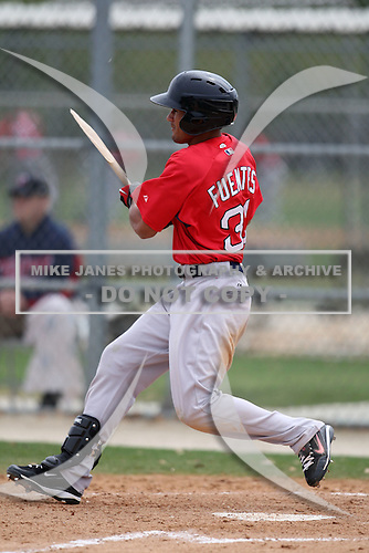 March 18, 2010:  Outfielder Reymond Fuentes of the Boston Red Sox organization during Spring Training at Ft.  Myers Training Complex in Fort Myers, FL.  Photo By Mike Janes/Four Seam Images