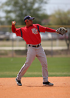 Washington Nationals minor leaguer Melvin Dorta during Spring Training at the Carl Barger Training Complex on March 19, 2007 in Melbourne, Florida.  (Mike Janes/Four Seam Images)