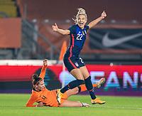BREDA, NETHERLANDS - NOVEMBER 27: Kristie Mewis #22 of the USWNT celebrates her goal during a game between Netherlands and USWNT at Rat Verlegh Stadion on November 27, 2020 in Breda, Netherlands.