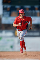 Williamsport Crosscutters first baseman Brian Mims (22) runs the bases during the second game of a doubleheader against the Batavia Muckdogs on August 20, 2017 at Dwyer Stadium in Batavia, New York.  Batavia defeated Williamsport 4-3.  (Mike Janes/Four Seam Images)