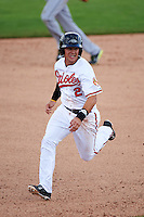 Peoria Javelinas shortstop Adrian Marin (2) running the bases during an Arizona Fall League game against the Mesa Solar Sox on October 21, 2015 at Peoria Stadium in Peoria, Arizona.  Peoria defeated Mesa 5-3.  (Mike Janes/Four Seam Images)