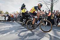 Philippe Gilbert (BEL/Quick Step floors) solo tops the Kruisberg <br /> <br /> 101th Ronde Van Vlaanderen 2017 (1.UWT)<br /> 1day race: Antwerp › Oudenaarde - BEL (260km)