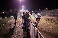 Mathieu Van der Poel (NED/Beobank-Corendon) leading the way<br /> <br /> Elite Men's race<br /> Superprestige Diegem 2016