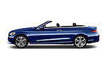 Car Driver side profile view of a 2018 Mercedes Benz C-Class C-300 2 Door Convertible Side View