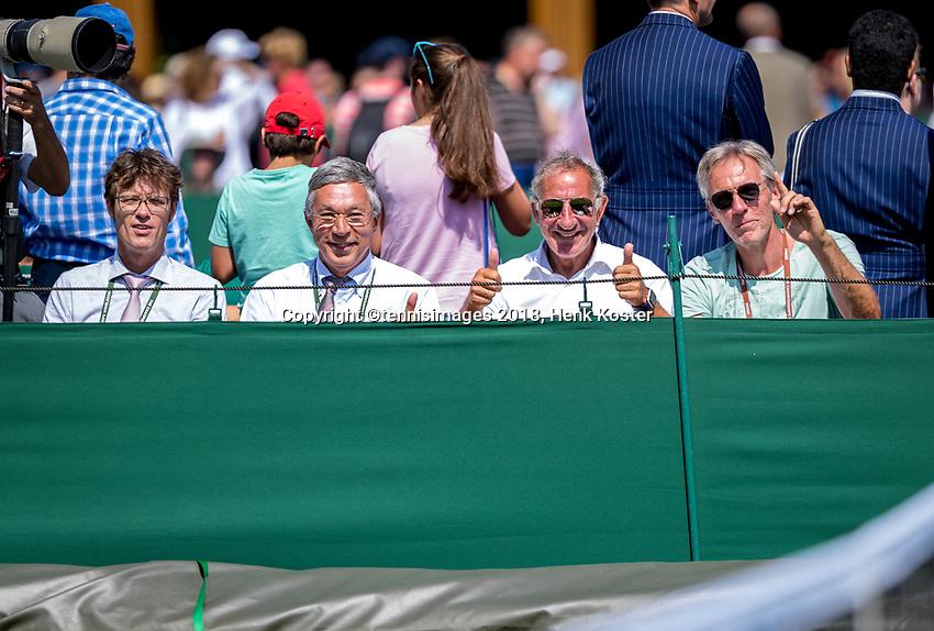 London, England, 3 th. July, 2018, Tennis,  Wimbledon, Dutch bench<br /> Photo: Henk Koster/tennisimages.com