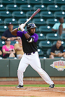 Courtney Hawkins (10) of the Winston-Salem Dash at bat against the Wilmington Blue Rocks at BB&T Ballpark on August 3, 2013 in Winston-Salem, North Carolina.  The Blue Rocks defeated the Dash 4-2.  (Brian Westerholt/Four Seam Images)