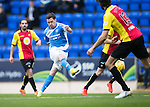 St Johnstone v Partick Thistle…29.10.16..  McDiarmid Park   SPFL<br />Danny Swanson shoots for goal<br />Picture by Graeme Hart.<br />Copyright Perthshire Picture Agency<br />Tel: 01738 623350  Mobile: 07990 594431