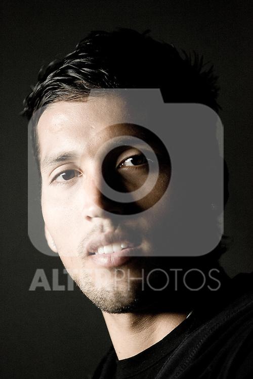Real Madrid's Ezequiel Garay during portrait session. December 17, 2009. (ALTERPHOTOS/Alvaro Hernandez)