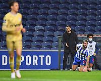 13th February 2021; Dragao Stadium, Porto, Portugal; Portuguese Championship Football, FC Porto versus Boa Vista; FC Porto manager Sérgio Conceição watches the game closely