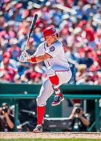 30 July 2017: Washington Nationals first baseman Ryan Zimmerman in action against the Colorado Rockies at Nationals Park in Washington, DC. With two home runs in the game, Zimmerman's 3rd run blast makes him Washington's all-time home run leader, passing Frank Howard with his 238th career longball. The Rockies defeated the Nationals 10-6 in the second game of their 3-game weekend series. Mandatory Credit: Ed Wolfstein Photo *** RAW (NEF) Image File Available ***