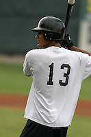 August 23, 2005:  Salvador Sanchez of the Bristol White Sox during a game at Devault Memorial Stadium in Bristol, VA.  Bristol is the Appalachian League Rookie affiliate of the Chicago White Sox.  Photo by:  Mike Janes/Four Seam Images