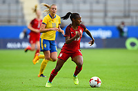Gothenburg, Sweden - Thursday June 08, 2017: Crystal Dunn during an international friendly match between the women's national teams of Sweden (SWE) and the United States (USA) at Gamla Ullevi Stadium.