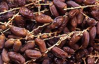 """Europe/Espagne/Catalogne/Barcelone : Marché """"La Boqueria"""" - Etal de fruits secs - Dattes"""