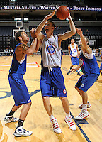 Marshall Plumlee at the NBPA Top100 camp June 19, 2010 at the John Paul Jones Arena in Charlottesville, VA. Visit www.nbpatop100.blogspot.com for more photos. (Photo © Andrew Shurtleff)