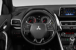 Car pictures of steering wheel view of a 2020 Mitsubishi Eclipse-Cross BLACK-Collection+ 5 Door SUV Steering Wheel