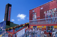 Canada, Ontario, Toronto, exterior wall mural of building painted as the inside of a cocktail bar