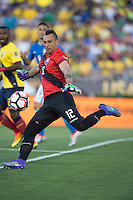 Actio photo during the match Brasil vs Ecuador, at Rose Bowl Stadium Copa America Centenario 2016. ---Foto  de accion durante el partido Brasil vs Ecuador, En el Estadio Rose Bowl, Partido Correspondiante al Grupo -B-  de la Copa America Centenario USA 2016, en la foto: Esteban Dreer<br /> --- 04/06/2016/MEXSPORT/ David Leah.