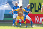 20.02.2021, xtgx, Fussball 3. Liga, FC Hansa Rostock - SV Waldhof Mannheim, v.l. Dominik Martinovic (Mannheim, 11), Jan Loehmannsroeben (Hansa Rostock, 24) Zweikampf, Duell, Kampf, tackle <br /> <br /> (DFL/DFB REGULATIONS PROHIBIT ANY USE OF PHOTOGRAPHS as IMAGE SEQUENCES and/or QUASI-VIDEO)<br /> <br /> Foto © PIX-Sportfotos *** Foto ist honorarpflichtig! *** Auf Anfrage in hoeherer Qualitaet/Aufloesung. Belegexemplar erbeten. Veroeffentlichung ausschliesslich fuer journalistisch-publizistische Zwecke. For editorial use only.