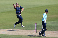 Kyle Abbott in bowling action for Hampshire during Hampshire Hawks vs Essex Eagles, Royal London One-Day Cup Cricket at The Ageas Bowl on 22nd July 2021