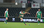 Connacht centre Craig Ronaldson attempts a long range penalty kick.<br /> Guiness Pro12<br /> Ospreys v Connacht<br /> Liberty Stadium<br /> 31.10.14<br /> ©Steve Pope-SPORTINGWALES