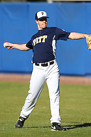 Pittsburgh Panthers David Kaye #29 during a game vs. the Central Michigan Chippewas at Chain of Lakes Park in Winter Haven, Florida;  March 11, 2011.  Pittsburgh defeated Central Michigan 19-2.  Photo By Mike Janes/Four Seam Images
