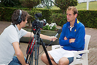 17-06-13, Netherlands, Rosmalen,  Autotron, Tennis, Topshelf Open 2013, Interview with Thiemo de Bakker for Tennis TV by Jan-Willem de Lange<br /> Photo: Henk Koster