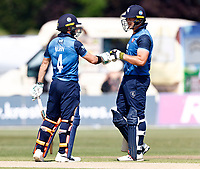 Heino Kuhn (L) and George Munsey of Kent during Kent Spitfires vs Durham, Royal London One-Day Cup Cricket at The Spitfire Ground on 22nd July 2021
