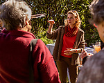 October 26, 2017. Raleigh, North Carolina.<br /> <br /> NC First Lady Kristin Cooper, center, spoke with attendees after the ceremony. <br /> <br /> A new garden designed by Ben Skelton containing native Plants For Birds was dedicated at the North Carolina Executive Mansion.