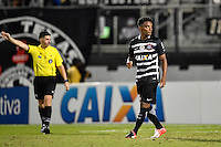 Orlando, FL - Saturday Jan. 21, 2017: Corinthians midfielder Paulo Roberto (28) reacts to a successful penalty shot during the penalty kick shootout of the Florida Cup Championship match between São Paulo and Corinthians at Bright House Networks Stadium. The game ended 0-0 in regulation with São Paulo defeating Corinthians 4-3 on penalty kicks.