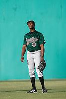 Justin Upton of the Visalia Oaks during a California League baseball game on April 9, 2007 at Stater Bros. Stadium in Adelanto, California. (Larry Goren/Four Seam Images)