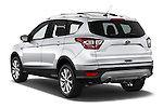 Car pictures of rear three quarter view of 2018 Ford Escape Titanium 5 Door Suv Angular Rear