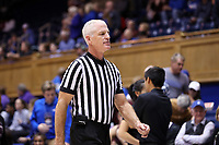 DURHAM, NC - NOVEMBER 17: Game official Bruce Morris during a game between Northwestern University and Duke University at Cameron Indoor Stadium on November 17, 2019 in Durham, North Carolina.