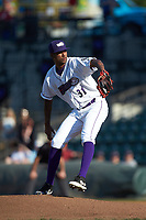 Winston-Salem Dash starting pitcher Luis Martinez (31) in action Down East Wood Ducks at BB&T Ballpark on May 12, 2018 in Winston-Salem, North Carolina. The Wood Ducks defeated the Dash 7-5. (Brian Westerholt/Four Seam Images)