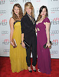 Kate Capshaw and daughters at AFI FEST 2012 Closing Night Gala -Steven Spielberg's LINCOLN held at The Grauman's Chinese Theatre in Hollywood, California on November 08,2012                                                                               © 2012 Hollywood Press Agency