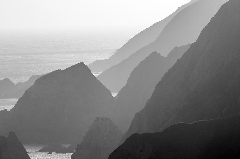 Rocky shoreline at Chimney Rock. Point Reyes National Seashore. California