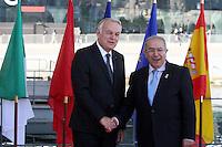 28 oct 2016, Marseille, France - Jean-Marc Ayrault, Ministre des Affaires EtrangËres et co-prÈsident de la 13Ëme rÈunion des Ministres des Affaires EtrangËres du 'Dialogue 5+5 sur la MÈditerranÈe occidentale'. Ramtane Lamamra, Ministre des Affaires EtrangËres d'AlgÈrie. # JEAN-MARC AYRAULT RECOIT A MARSEILLE LES MINISTRES DES AFFAIRES ETRANGERES DES PAYS MEDITERRANEENS